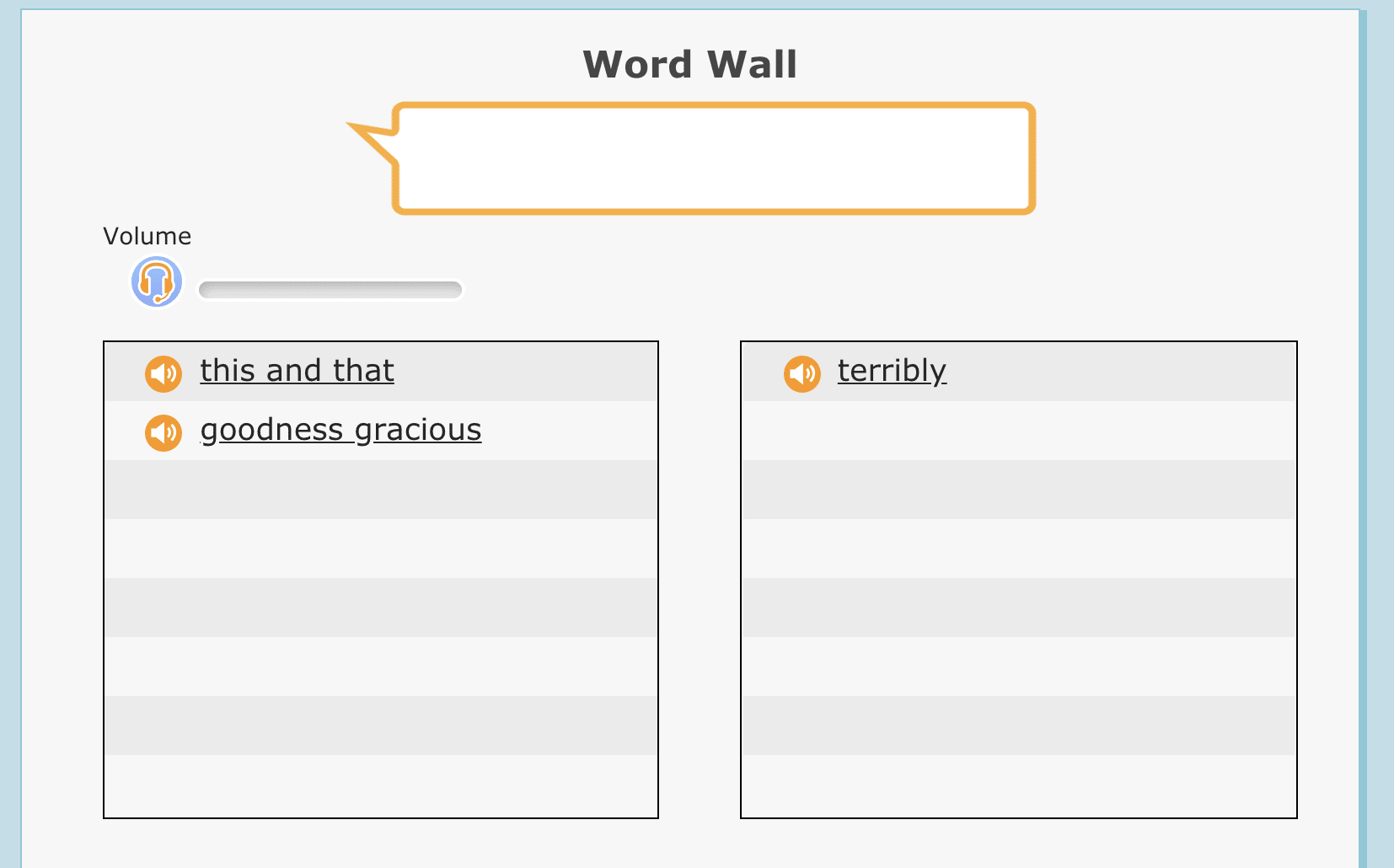 Wordwall Reading Assistant